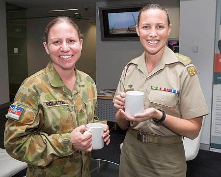 Corporal Megan Polatos and Captain Rachel Chapman.