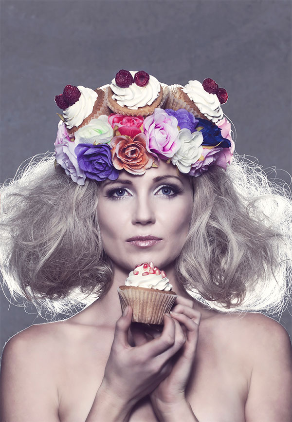 Food and Fashion is Hustle&Scout's crowning glory for the April market. Styling: Tegan McAuley, Founder Hustle&Scout; Adam Noble and Tegan Geal, Next Hair. Model: Carryn Jack, Haus Models, Photographer: Leighton Hutchinson, Makeup Artist: Angelina Broso.