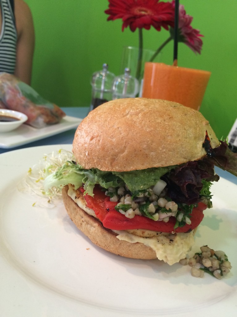 Haloumi Burger and Immune Boosting Juice at My Rainbow Dreams Cafe