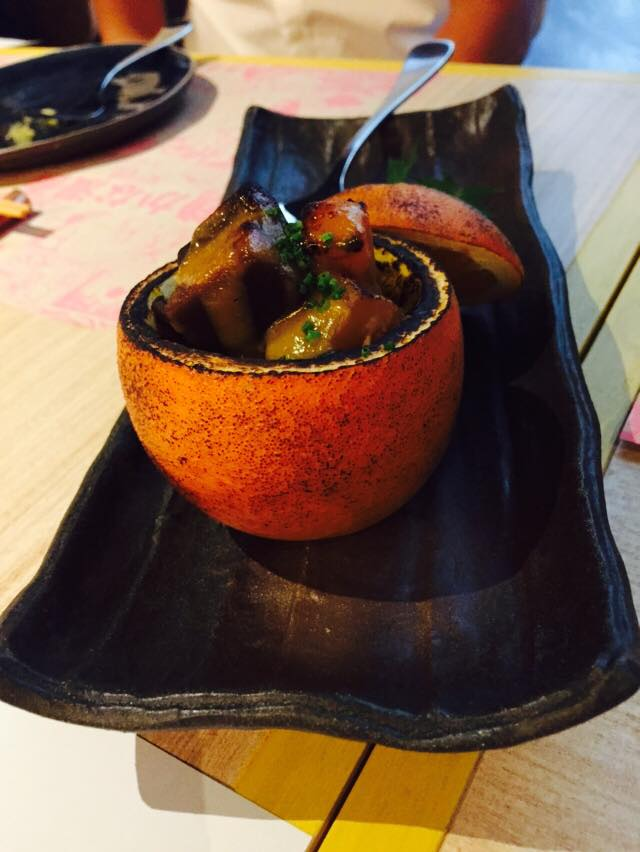 Roast Umami Vegetables w Orange Miso in Orange Pot