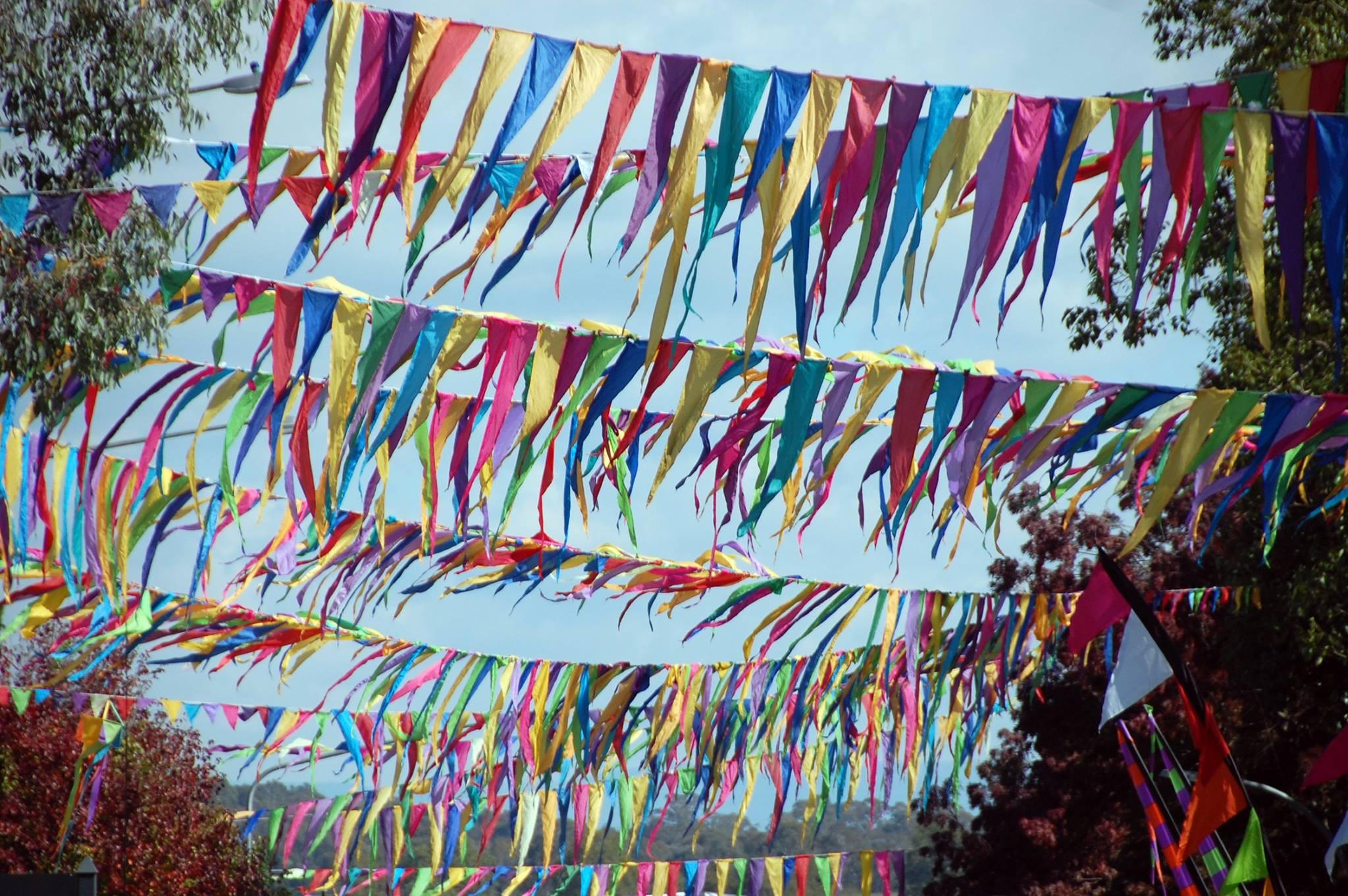 folk festival banners