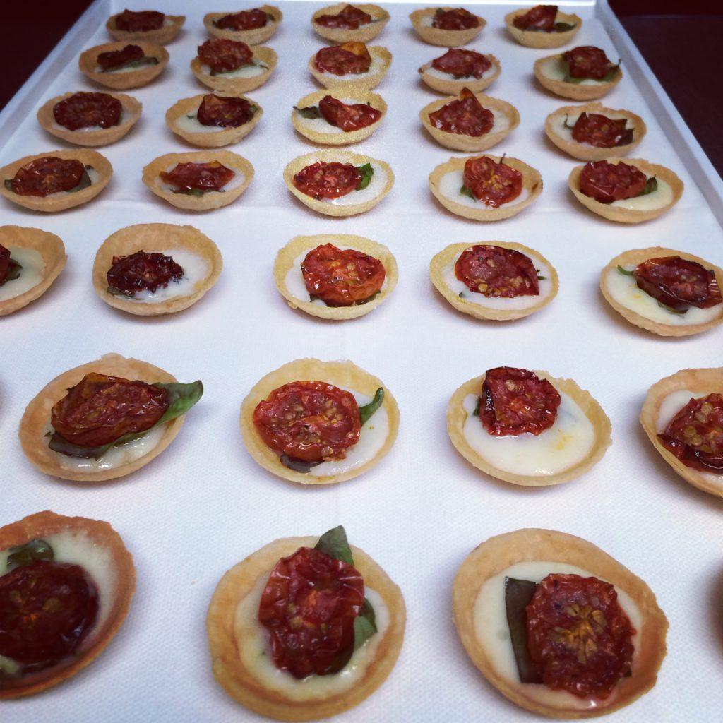 Tomato, basil & taleggio tartlet