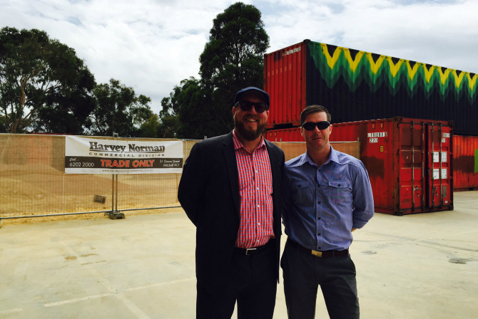 Responsible for the fitout of some very cool toilets (and yes in shipping containers), Harvey Norman Commercial is one of two Westside sponsors.