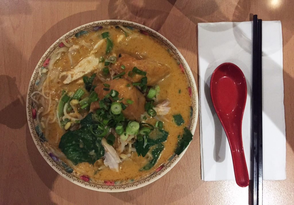 Half size chicken laksa at Asian Noodle House.