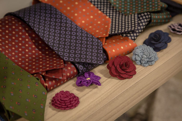 Ties and buttonholes from Braddon Tailors. Photography: Jonathon McFeat.