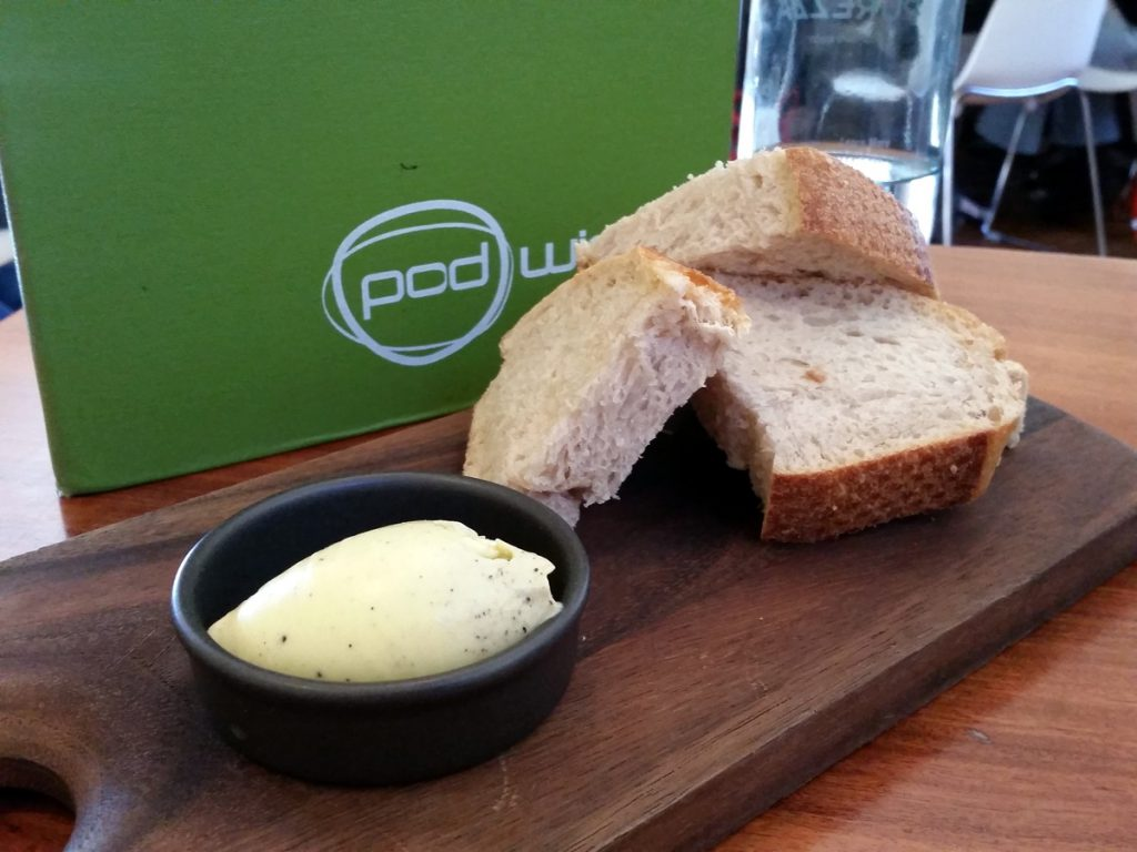 Sourdough bread with truffle butter.