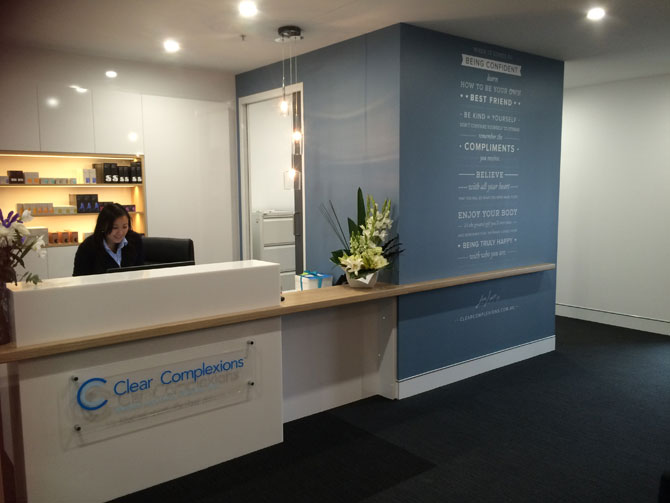 The Clear Complexions reception in Woden.