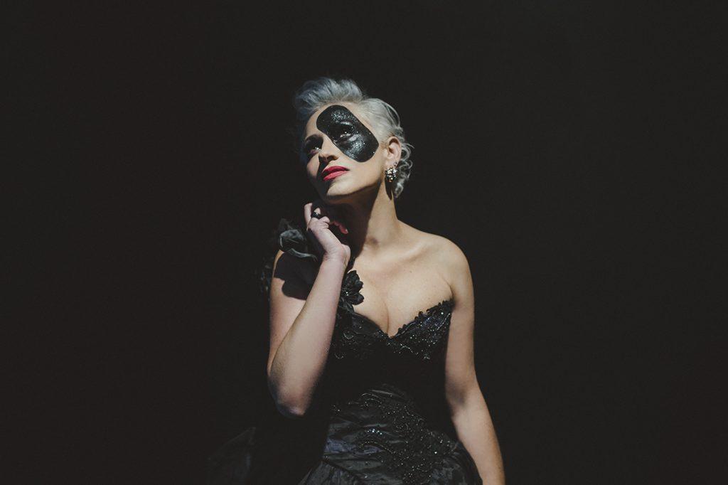 Acclaimed photographer, Lori Cicchini, in a modern interpretation of Phantom of the Opera.