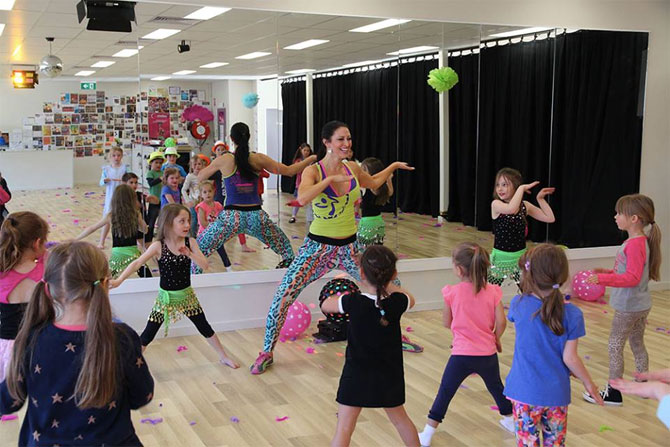 A Zumba party at Kokoloco Dance Studio!
