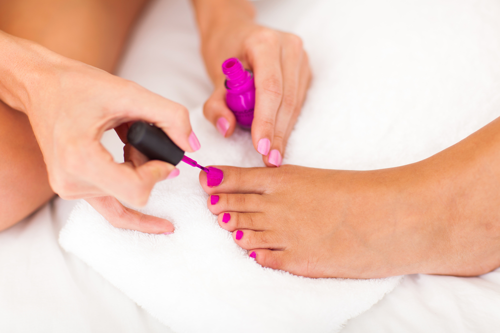 Pamper: Have a girls' night in with pedicures and more!