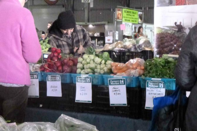 Stock up on fresh produce at Capital Region Farmers Market.