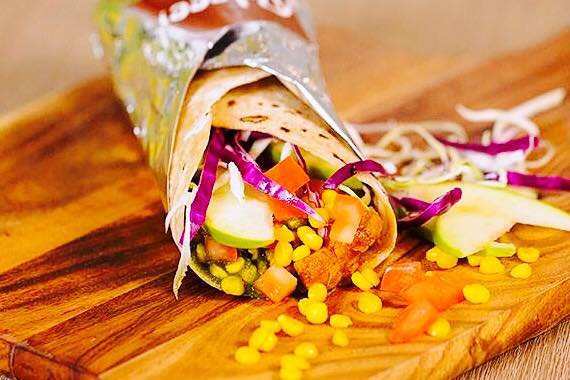 A delicious wrap from Roleee. Photo: Facebook.