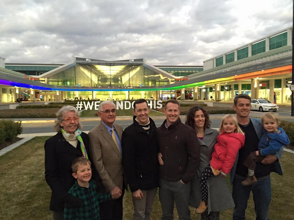 The Snow family stands up for marriage equality. Source: Facebook.