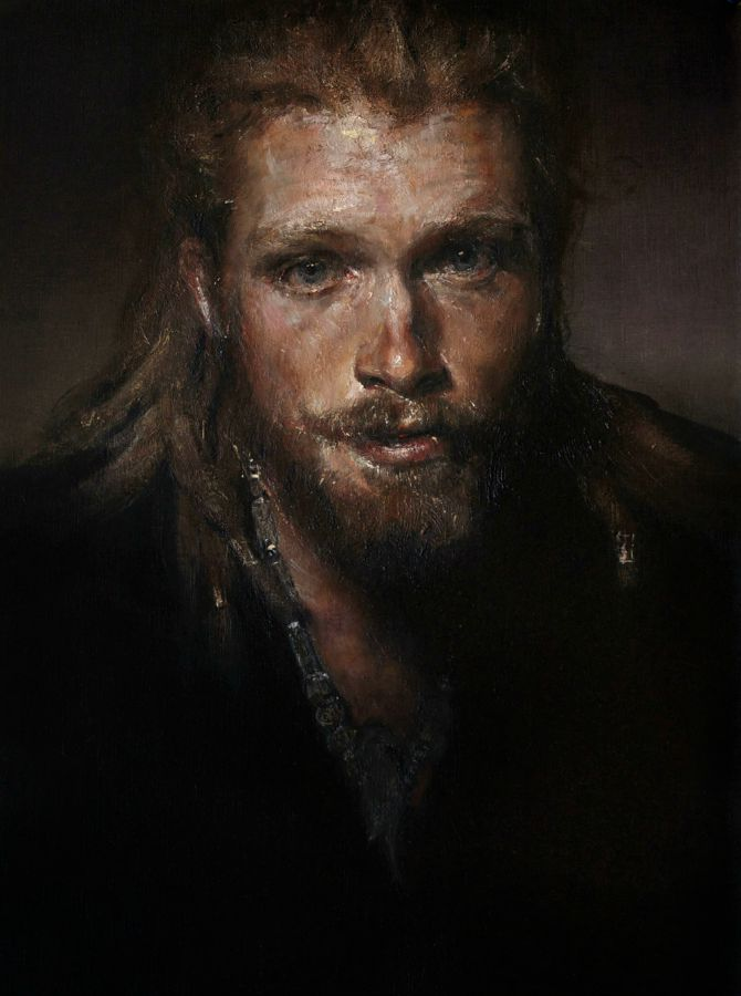 Ned Bott, oil on paper, 57 x 37cm, 2014