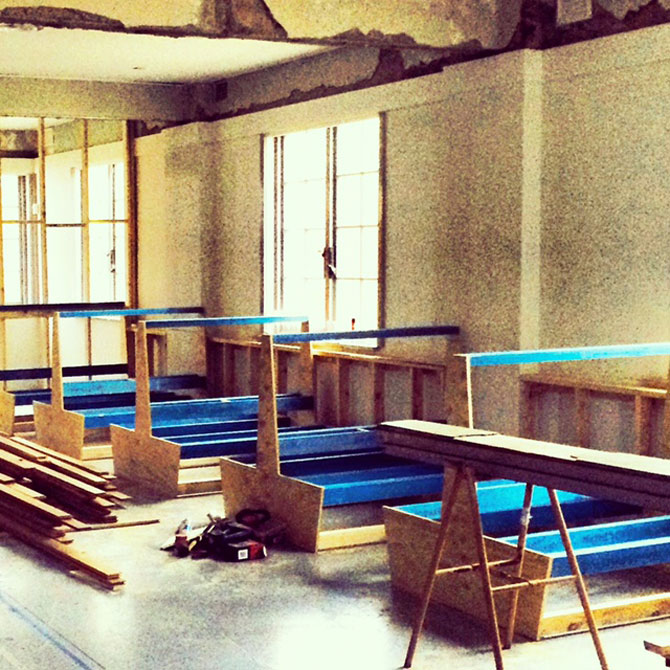 Bar Rochford's interior under construction. Image: supplied.