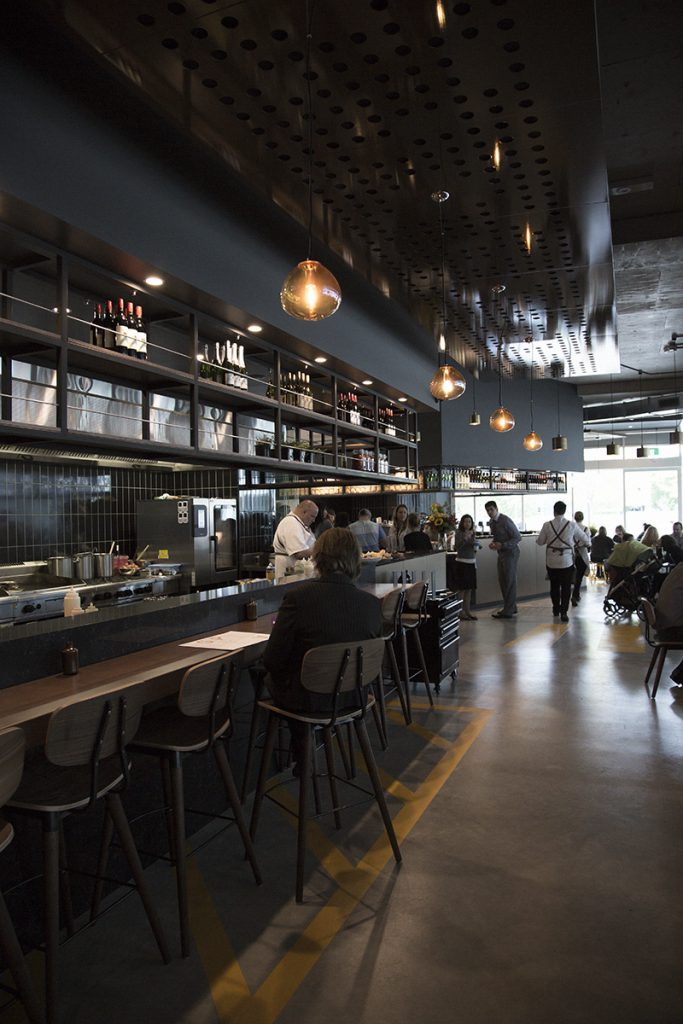 The large open kitchen at Space.