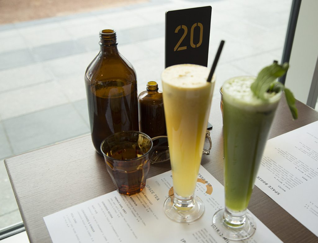 The fresh juices are refreshing and generously sized.