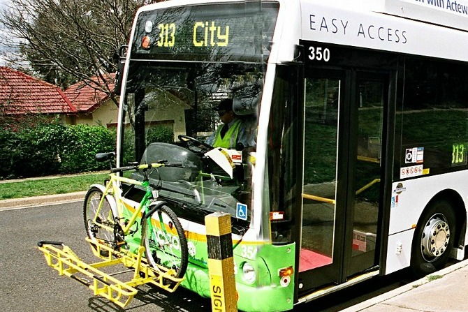 bike rack on bus feature