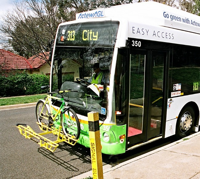bike rack on bus