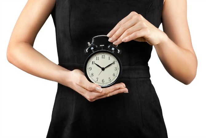 clock time woman feature