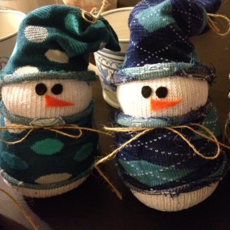 Sock Snowmen by Ciao Mama