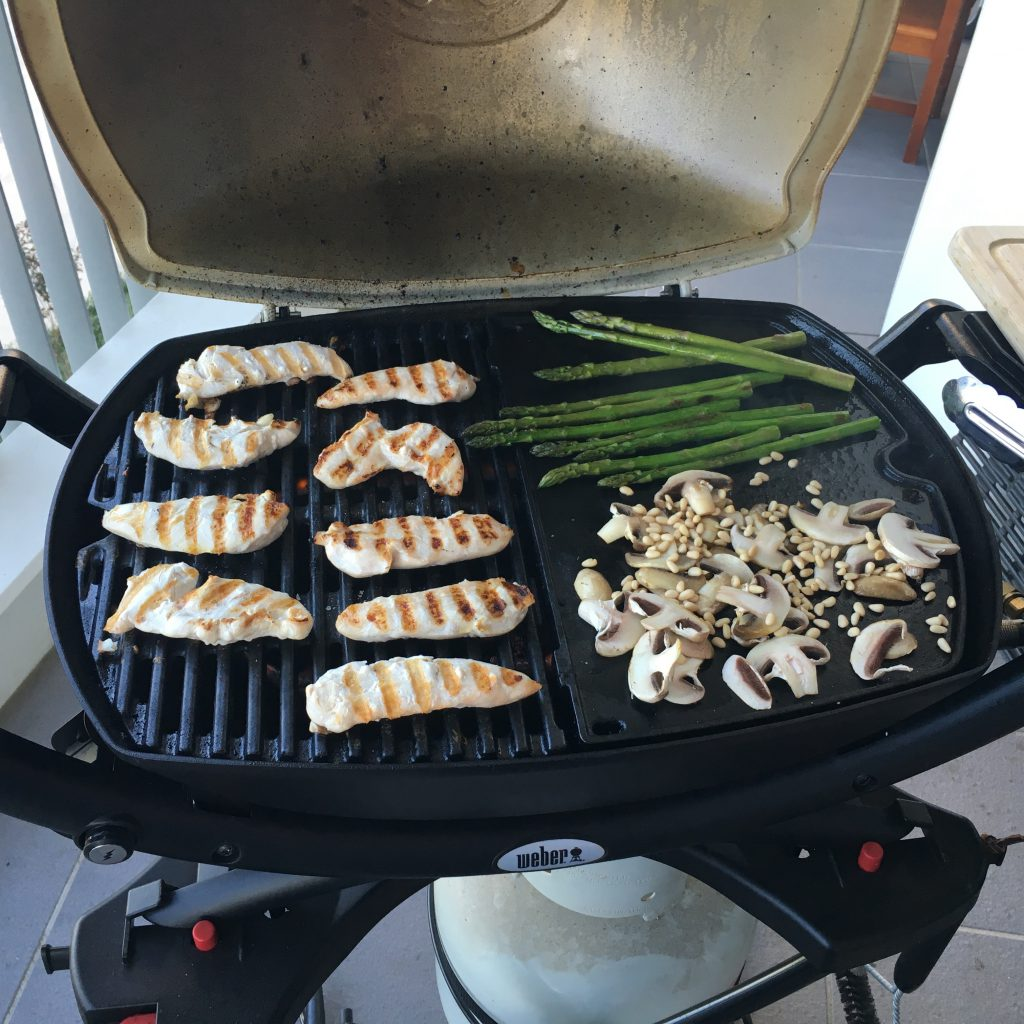 I love my little BBQ - I cook EVERYTHING on it!