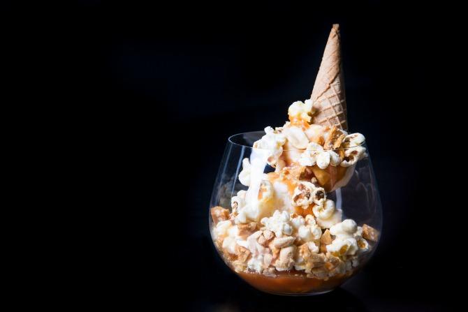 eightysix's Caramel Popcorn Sundae. Image: supplied.