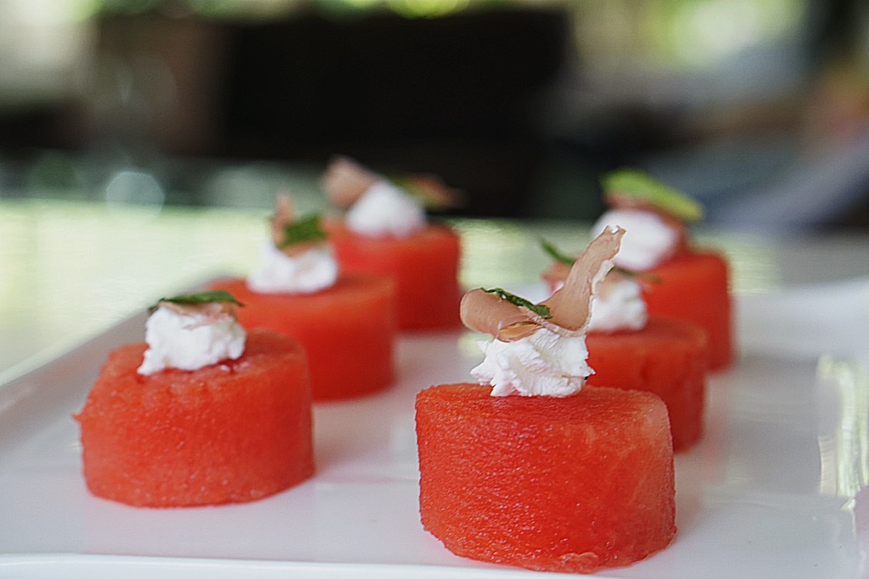 watermelon canapes