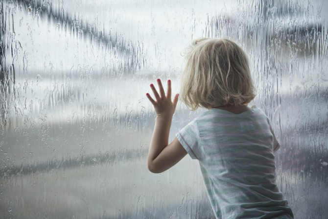 child rainy day feature
