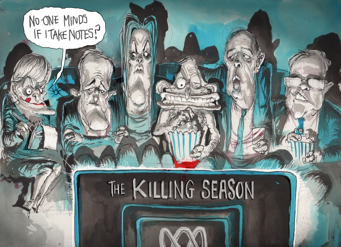 David Rowe. The Killing Season. Australian Financial Review, 8 June 2015