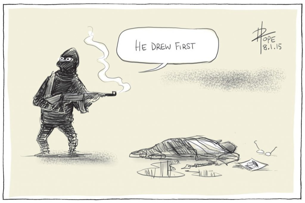David Pope. Canberra Times, 8 January 2015