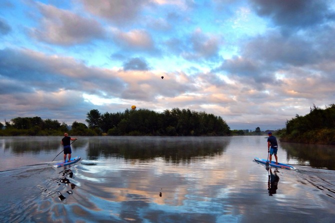 suping feature paddleboard
