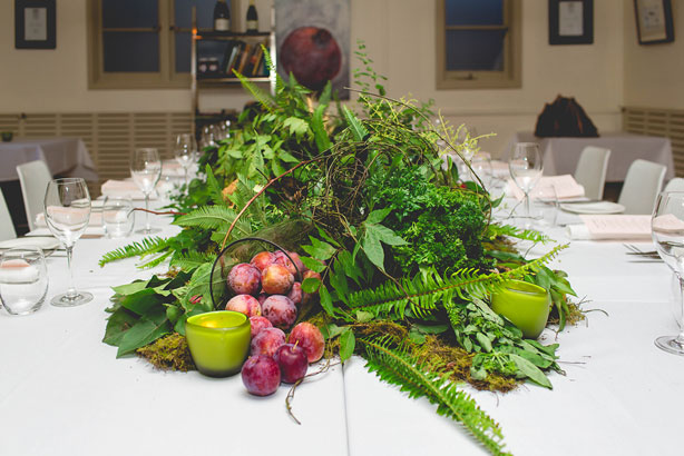 The amazing food-inspired centrepiece from Moxom & Whitney.