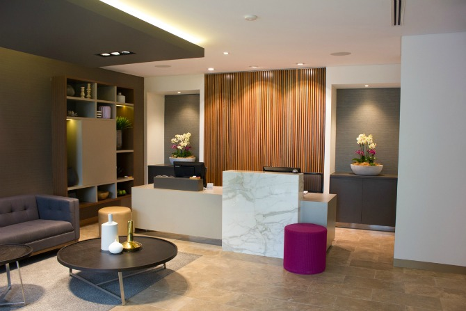 The reception at Oasis Dental