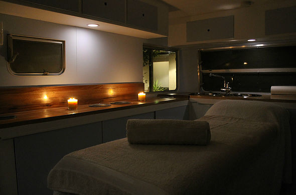 Dolly the caravan's interior