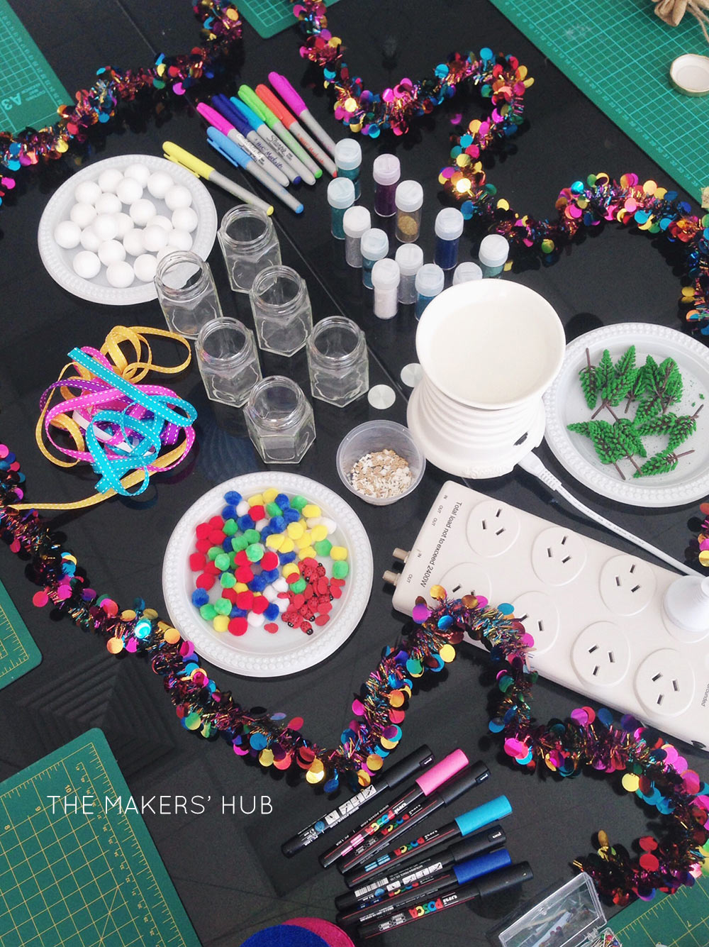 Creative supplies at The Makers Hub