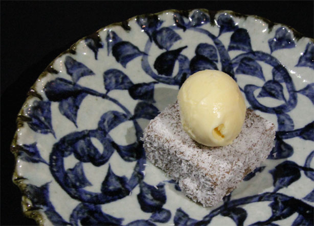 'Lamington' with Green Tea Ice Cream.
