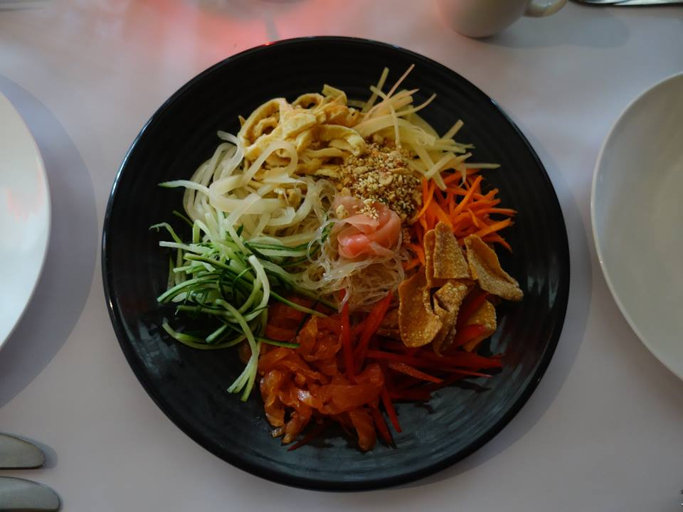 Yee Sang (Longevity Noodles).