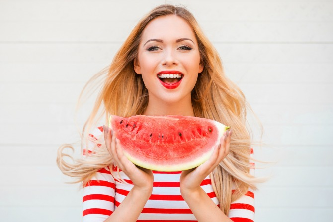 woman watermelon feature