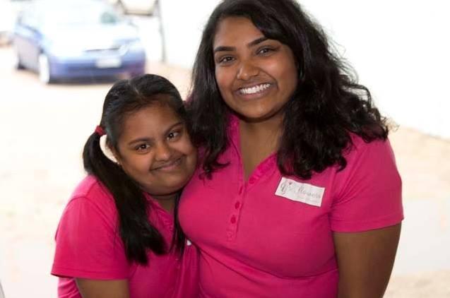 Nip with her sister Gayana