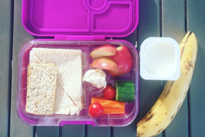A healthier lunch box for the kids.