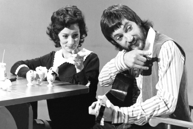 Benita Collings and John Waters on the set of Play School, c.1972