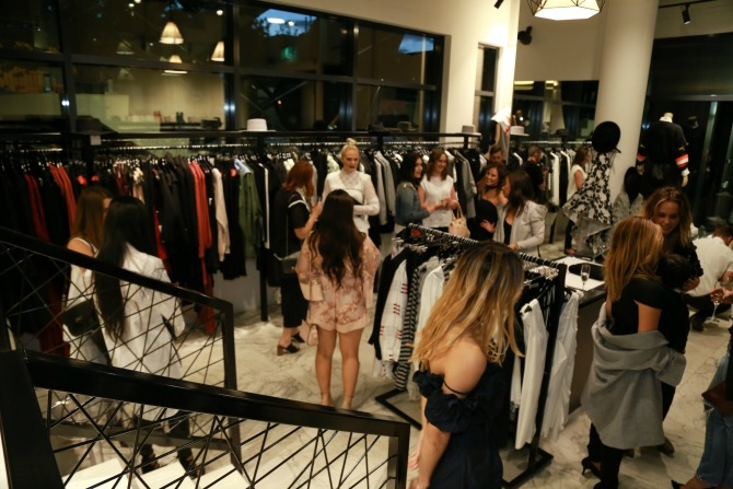 Shoppers at the P.E National launch at Rebel Muse