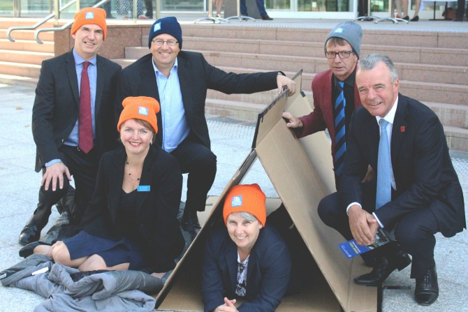Vinnies CEO sleep out feature