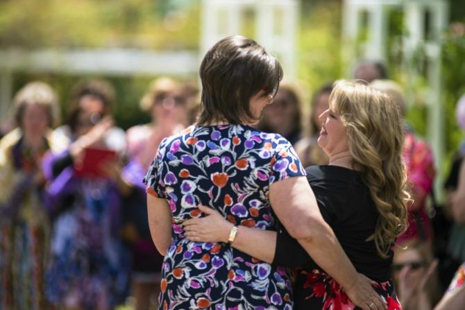 Glenda and Jennifer on their wedding day