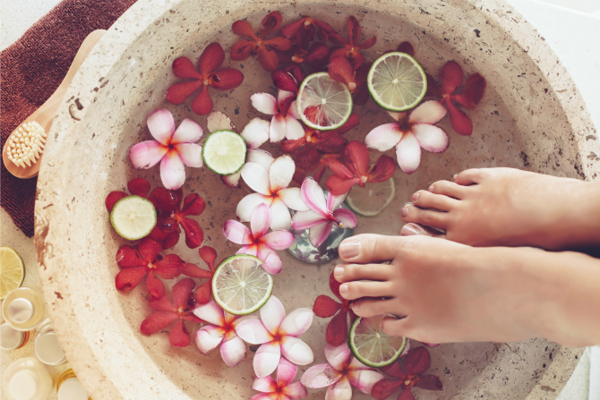 spa pedicure feature