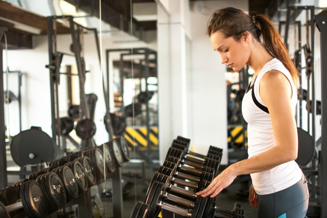 woman fitness gym feature