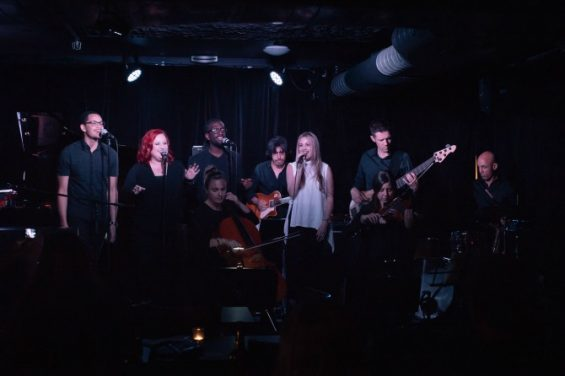 Julie Kerr and her band