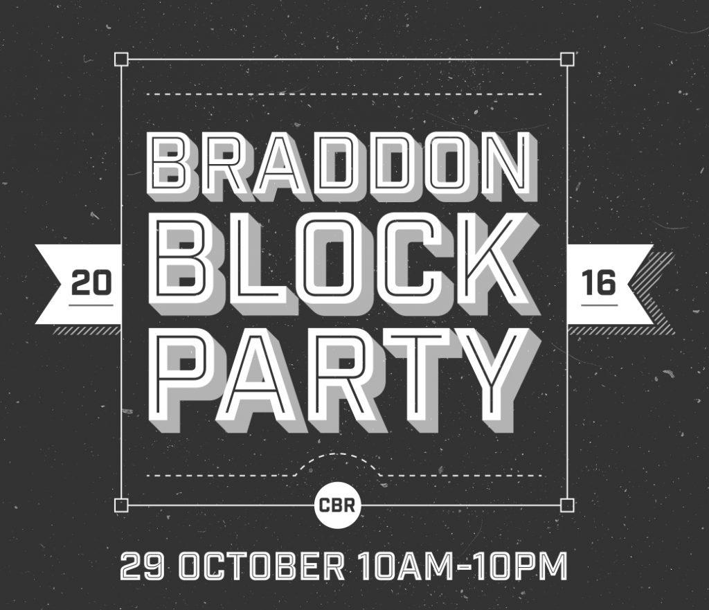 Braddon Block Party poster