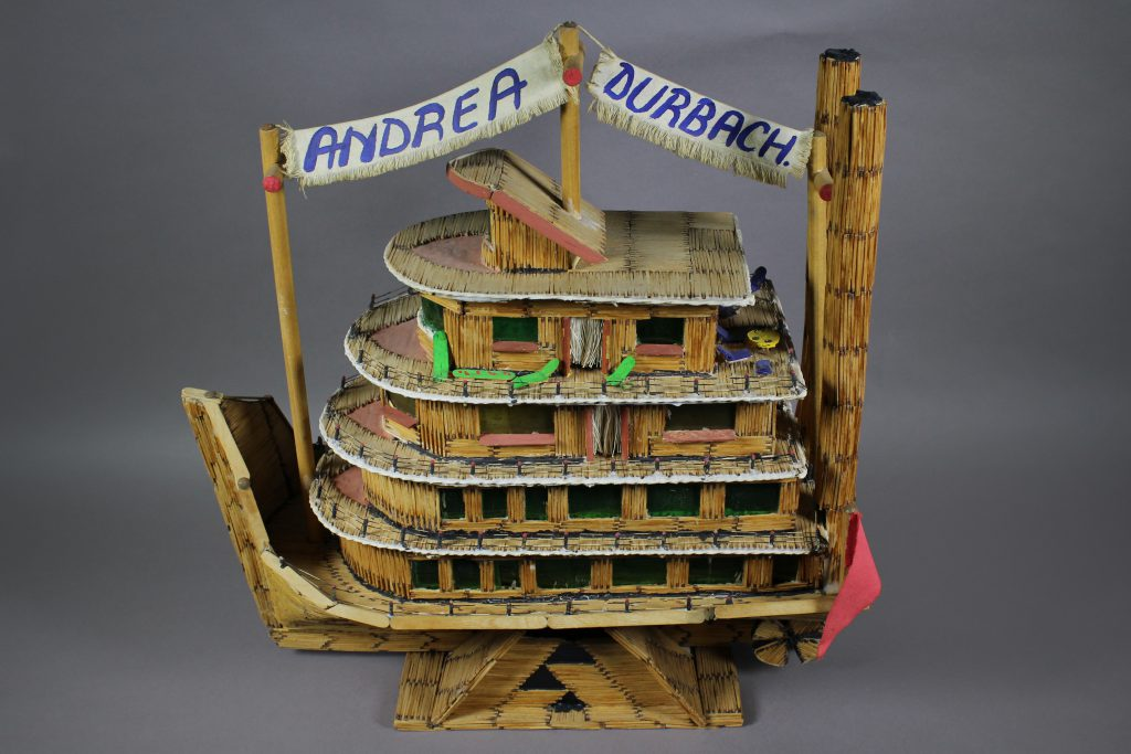 Matchstick_boat._On_loan_from_Andrea_Durbach._Photographer_TBC
